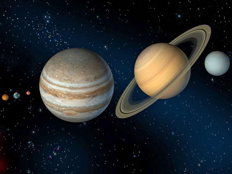 太阳系的插图。 (行星;太阳)