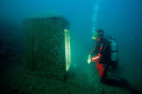 在Thonis-Heracleion寺区发现的最重要的古迹中,有一座可追溯到托勒密时期的整体式教堂(naos)。 它是识别城市的关键。 ©Franck Goddio / Hilti Foundation,照片:克里斯托夫·格里克(Christoph Gerigk)