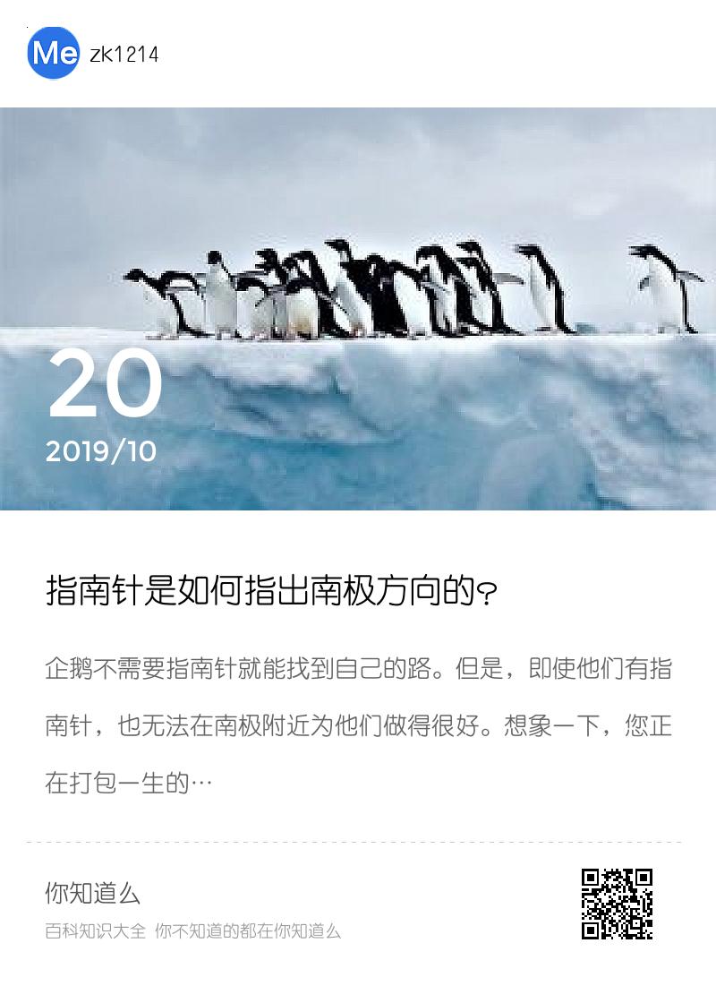 指南针是如何指出南极方向的?分享封面