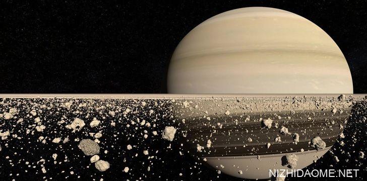 土星由冰,岩和尘土制成的戒指
