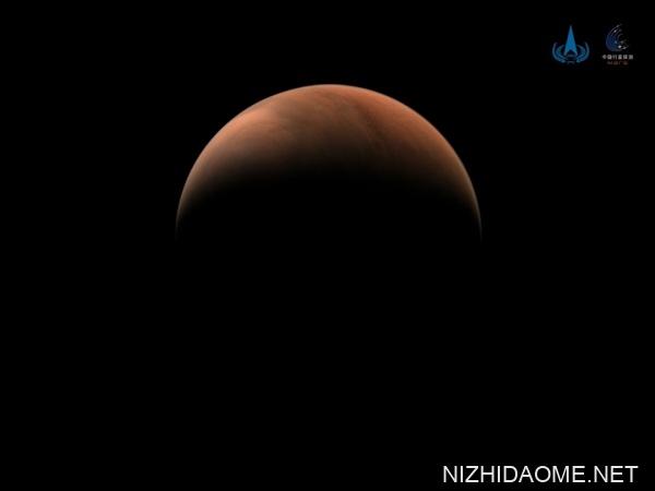 天问一号拍摄!我国首张火星侧脸照公布:形似月牙