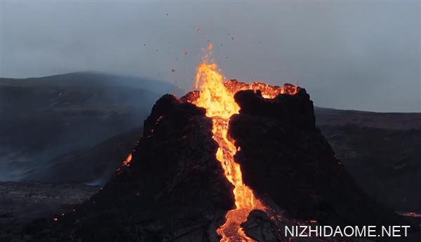 大疆FPV近距离拍摄冰岛火山喷发 网友:如同特效大片
