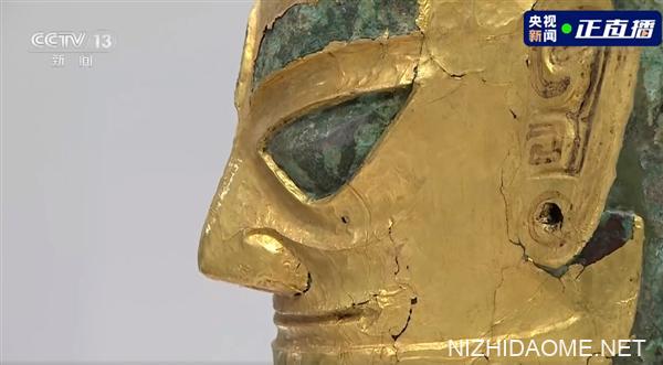 360度围观三星堆黄金面具真容:3000多年前工匠已熟练掌握抛光技术